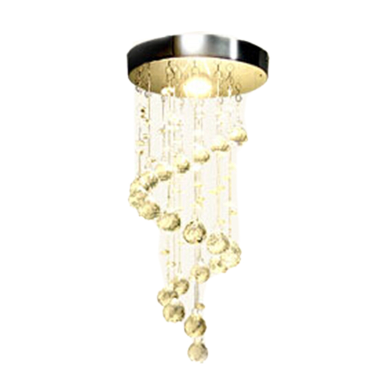 ABSS Modern Spiral Crystal Chandelier for Home Entrance Stair Staircase Aisle Corridor Ceiling Hanging Lamp Home Decoration Led|Pendant Lights| |  - title=