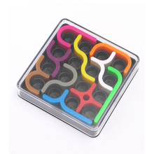 3D Intelligence Jigsaw Puzzle Crazy Curve Puzzle Games Geometric Line Matrix Toys For Children Learning Toy Adult Relaxing Toy