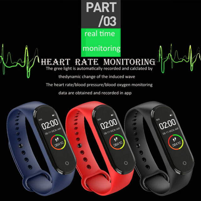 Women Digital Watch Bracelet with Heart Rate Monitoring Running Pedometer Calorie Counter 2