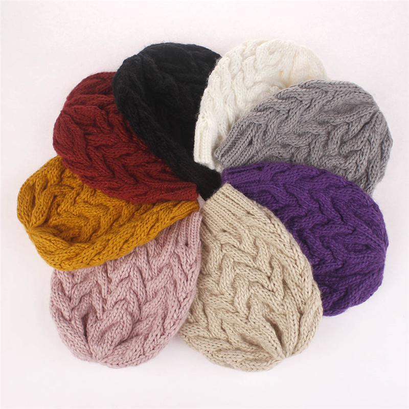 Cap Hats Female Winter Wool Fashion Thick Solid Unisex Acrylic Beanies Falls-Cap Youth