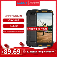 Cubot KingKong MINI 4 QHD+ 18:9 Screen Rugged Phone Waterproof 2000mAh 4G LTE Dual SIM 3GB+32GB Android 9.0 Rear Camera 13MP