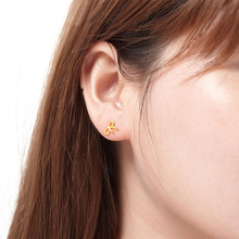 Fashion Stud Earrings Simple Sexy Bow-shapeEarrings Lady Temperament Engagement Party Jewelry