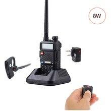 BaoFeng UV-5R 8W ווקי טוקי Dual Band שתי דרך רדיו Pofung חזיר נייד רדיו Transceive עם Bluetooth PTT אוזניות /אוזניות