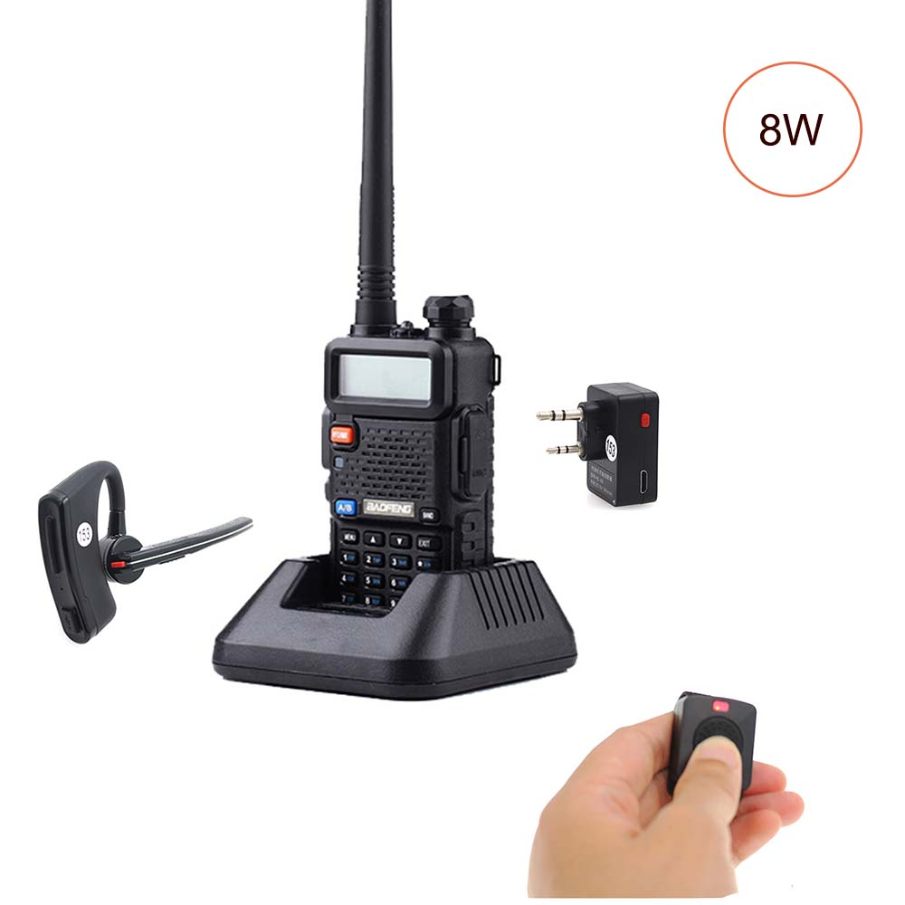 BaoFeng UV 5R 8W Walkie Talkie Dual Band Twee Manier Radio Pofung Draagbare Ham Radio Transceive met Bluetooth PTT Oortelefoon /headset-in Portofoon van Mobiele telefoons & telecommunicatie op AliExpress - 11.11_Dubbel 11Vrijgezellendag 1
