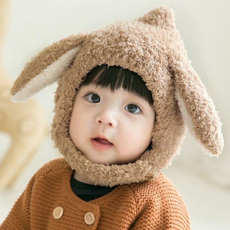Chapeau avec oreilles de lapin, bonnet tricoté pour enfants, accessoires de photographie, automne et hiver