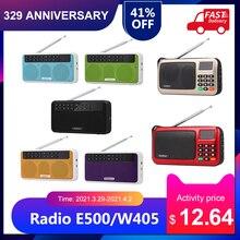 Rolton E500/W405 Wireless BT Speaker 6W HiFi Stereo Music Player FM Radio w/ Flashlight LED Display Mic  Hands free Record TF