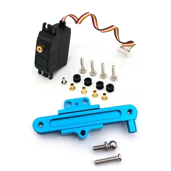 for WLtoys 12428 Electric Servo Motor Metal & for Wltoys 12428 Steering Connecting Piece Positioning Seat