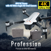 RC GPS Drone 4K 5G Quadcopter with Wide Angle Camera Gesture Foldable Quadrocopter Optical Flow Dron VS F11 B4W SG906