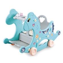 Infant Shining Baby Rocking Chair 4in1 Multifunctional Children Rocking Horse Animal Trojans Birthday Gift For 1-3Y Doki Toy