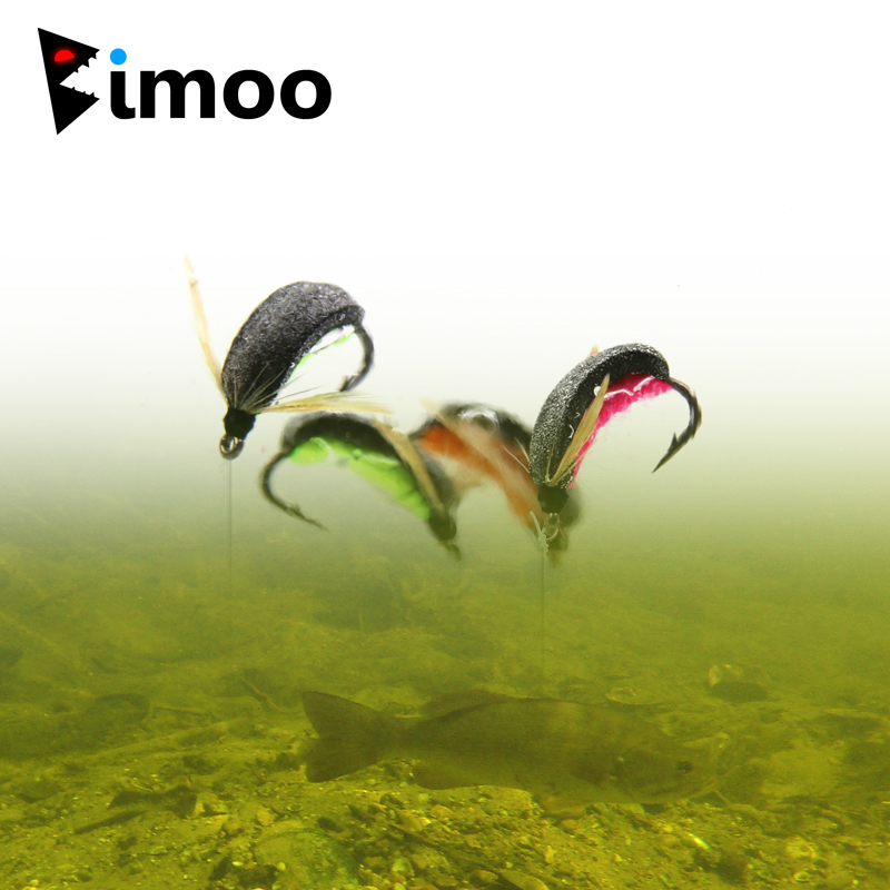 Bimoo 6pcs Carp Fishing Zig Bug Fly Boatman Carp Fishing Pop Up Insect Mimic Artificial Bait for Hair Rig Helicoper Combi Rigs
