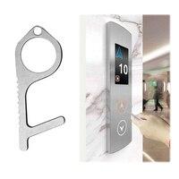 비접촉식 손 위생 항균 EDC 도어 오프너 엘리베이터 핸들 키 안전 절연 황동 키 도어 오프너