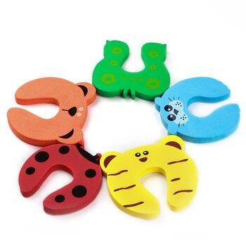 5pc/lot Baby Safety Protection Cartoon Animal Shape Door Blocker For Kids Finger Protectors Door Clamp Pinch 1