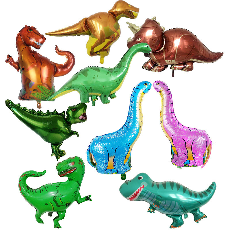 New Style Jurassic Dinosaur Aluminum Film Balloon Shopping Mall Theme Activity Decoration Children Birthday T-Rex Cartoon Balloo