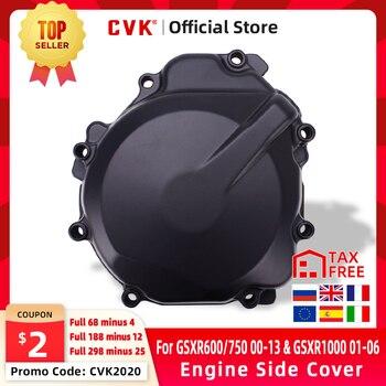 CVK Engine Cover Motor Stator Cover Side For SUZUKI GSXR600 GSXR750 GSXR1000 GSX-R 600 750 1000 2000 2001 2002 2003 2004 2005 motorcycle parts engine stator cover for suzuki 2004 gsxr600 750 gsxr1000 black left side