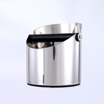 Pojemnik na kawę ze stali nierdzewnej pojemnik na Barista pojemnik na żużel ze stali nierdzewnej z litego drewna kawa mielona pukanie na żużel tanie i dobre opinie CN (pochodzenie) STAINLESS STEEL Stałe filtry