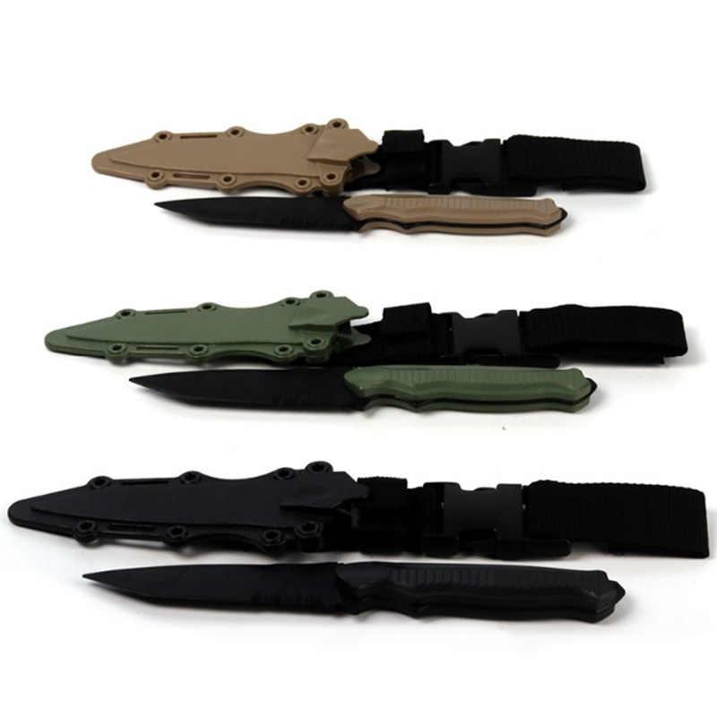 Quente-entusiastas ao ar livre m9 cs cosplay prop combate baioneta modelagem de borracha trem bainha faca modelo brinquedo espada