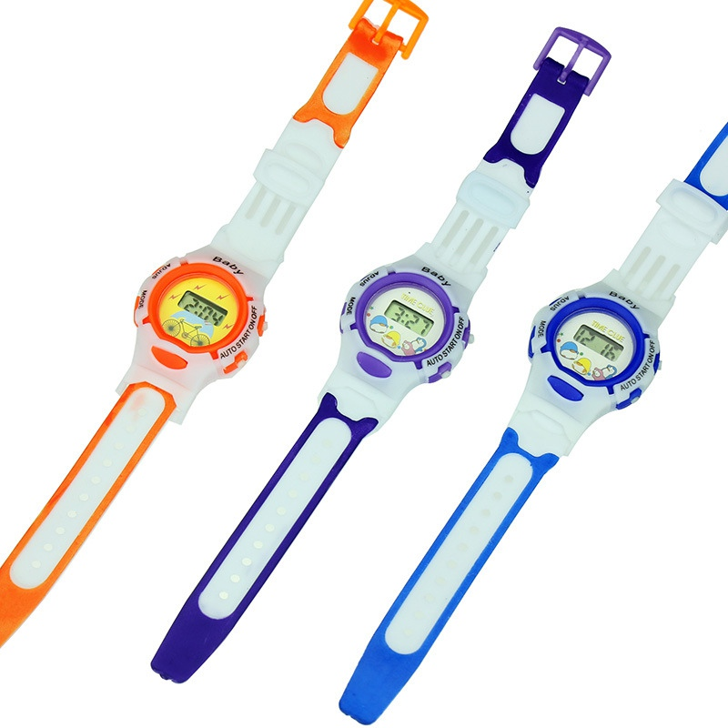Electronic Watches Kids Cute Cartoon Sports Wristwatch Children Watch Boy Girl Baby Toy Random Color