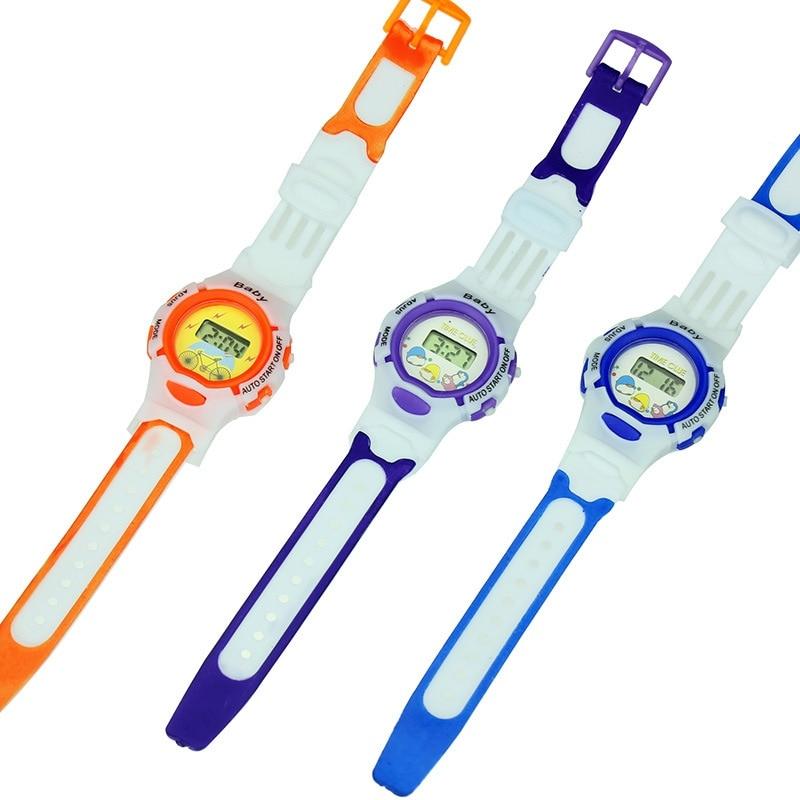 Electronic Watches Kids Cute Cartoon Sports Wristwatch Children Watch Boy Girl Baby Toy Random Color