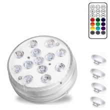 Zatapialne światła LED zasilane bateryjnie dekoracyjne światła odpowiednie do akwariów basenów stawów tanie tanio CN (pochodzenie) Do umieszczenia w wodzie