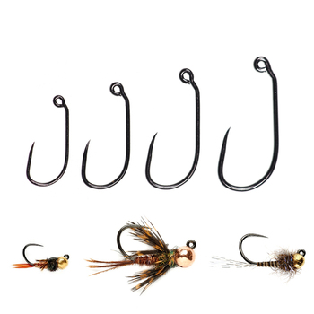 Best 60 Fishing Degree Angled Eye Wide Gap Barbless Jig Nymph Fly Tying Hook Fishhooks cb5feb1b7314637725a2e7: 30pcs Size 10 30pcs Size 12 30pcs Size 14 30pcs Size 16