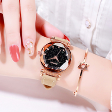 Luxury Women Watches Leather Starry Sky Female Clock Quartz Wristwatch Fashion Ladies Wrist Watch reloj mujer relogio feminino цены онлайн