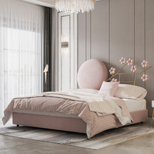 Light Double-Bed Bedroom Modern-Style Princess Nordic Luxury Popular