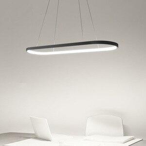 Image 3 - Пост современный светодиодный подиумный подвесной светильник Aureole для столовой, кухни, стола, подвесных светильников 2,4G с пультом дистанционного управления