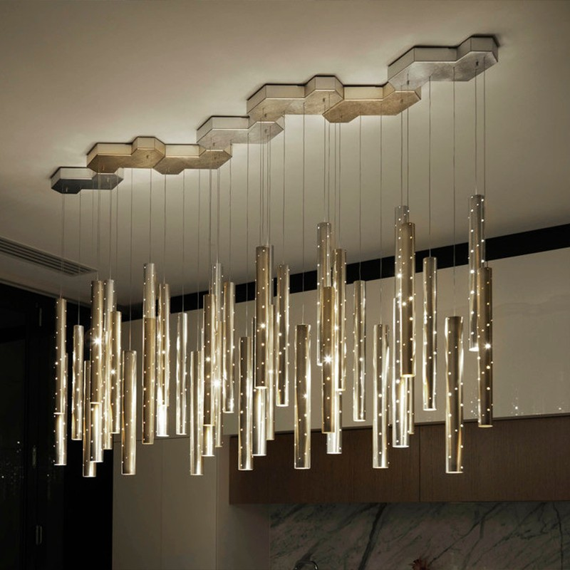 Dining room LED Chandelier lighting Modern Nordic gold/silver combinable chandelier living room home decoration bar lighting