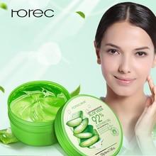 ROREC Nature Aloe Vera Gel Face Cream Soothing Moisture Acne Treatment Facial Cream Hydrating Repair After Sun Sleeping mask