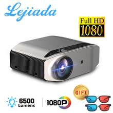 LEJIADA HD Projector YG620 LED 1920x1080P Video 3D YG621 Wireless Wifi Multi-Screen Beamer Theater At Home