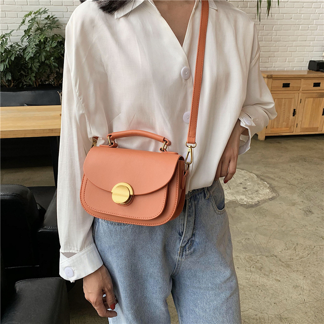 2020 Fashion Small Solid Colors Shoulder Bag