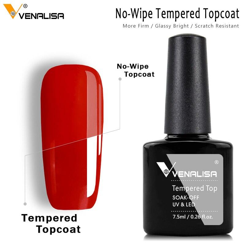 #70916 Venalisa дизайн ногтей макияж супер-гибкий Блестящий длительный блеск не протирать закаленное ударопрочное стекло topcoat