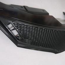 Углеродное волокно зерна черная Передняя решетка Вокруг отделки гоночных грилей отделка Подходит для 2013- Nissan Livna