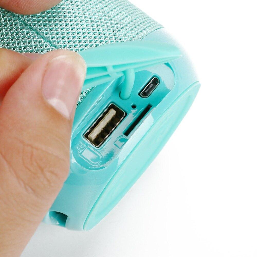 Купить мини bluetooth динамик стерео hi fi aux колонка водонепроницаемый