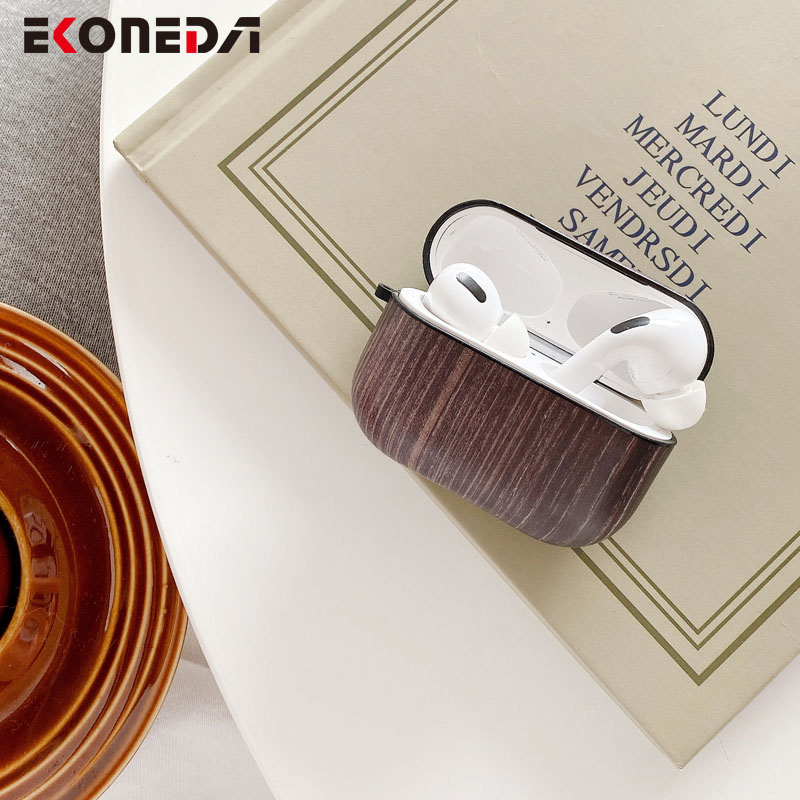EKONEDA Retro Luxury Wood Case For Airpods Case Protective Earphone Shell Cover For Apple Airpod Pro Case