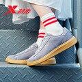 Xtep/Женская обувь для скейтбординга; Шелковая кружевная Весенняя Повседневная обувь; Модная кожаная спортивная обувь на платформе; 881118319231