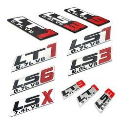 Cayears LS1 LS6 LT1 LT9 5.7L V8 LS3 6.8L LSX 7.4L V8 naklejki znaczek z symbolem dla Auto błotnik samochodu tył nadwozia pokrywa bagażnika w Naklejki samochodowe od Samochody i motocykle na