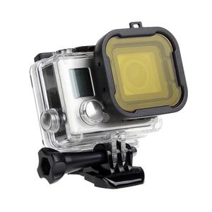 Image 4 - לירות עמיד למים מקרה עדשת מסנני GoPro גיבור 4 3 +/4 שחור כסף פעולה מצלמה אדום מסנן עבור ללכת פרו מצלמת צלילה אבזר