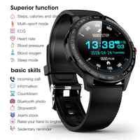 L9 Full touch Smart Uhr IP68 Wasserdichte Bluetooth Smart Armband Männer Frauen EKG PPG Herz Rate Blutdruck sauerstoff Monitor
