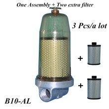 3 Pcs B10 AL Coperchio Del Serbatoio Del Carburante Filtro Separatore Dacqua Del Carburante di Montaggio Con PF10 Elemento del Filtro Per Il Diesel Serbatoio Di Stoccaggio Di Petrolio