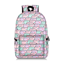 Girl Pusheen Cat Backpack Cartoon Comics 3D Printed School Bags Anime Book Shoulder Laptop Women Knapsack цена в Москве и Питере