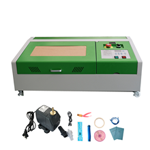 40W Co2 Laser Engraving Machine 300x200mm USB Port High Precise Laser Engraver + 4 Wheels