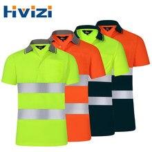 Chemise de sécurité réfléchissante pour le travail de nuit, vêtements à séchage rapide, T-shirt à manches courtes, vêtements de protection pour les vêtements de travail de Construction