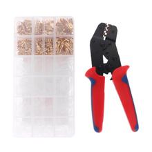 1 Set 48B Crimping Pliers with 600Pcs Insert Spring Terminals Cold Compression Wire Connector Crimper Pliers