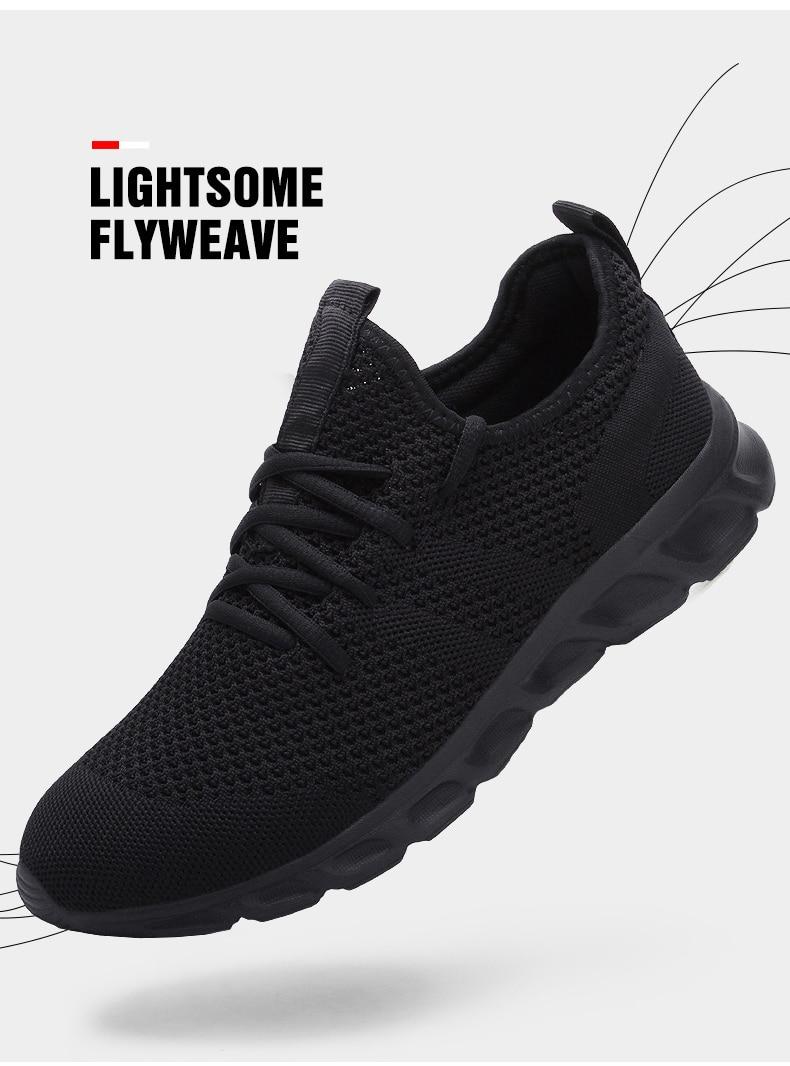 Hedc74b29c32c46b182319a7a192c5a26I Flyknit Men Shoes Light Sneakers Men Breathable Jogging Shoes for Men Rubber Tenis Masculino Adulto Plus 35 46 48