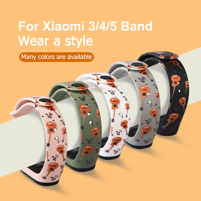 Colors Strap For Xiaomi Band 6 5 4 3 Sport Strap Wristband Replacement TPU Cartoon Strap MiBand 6 5 band 4 for xiaomi Mi Band 6 4