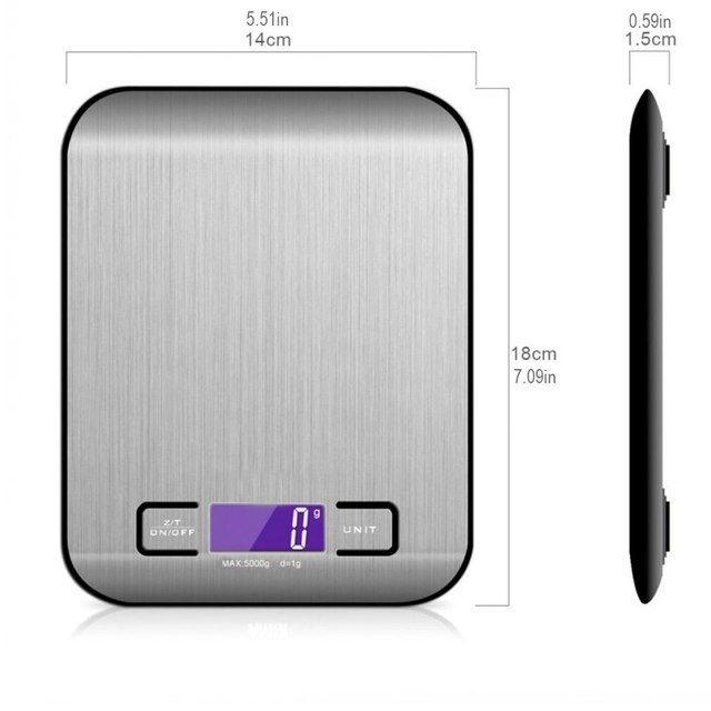 Stainless Steel Kitchen Scale Electronic Weighing 5Kg 10Kg Household Kitchen Scale Food Mini Gram Scale Jewelry Said 5