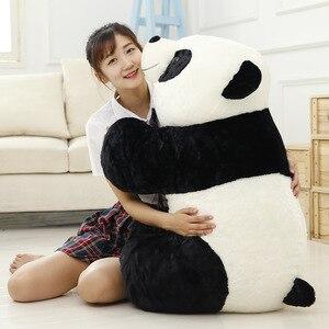 Image 1 - Sevimli bebek büyük dev Panda ayı peluş doldurulmuş hayvan bebek hayvanlar oyuncak yastık karikatür Kawaii bebek kız hediyeler Knuffels