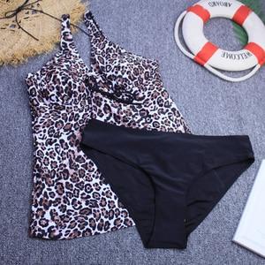 Image 5 - Bikini Set 2020 stroje kąpielowe Tankini kobiety dwuczęściowy Push Up stroje kąpielowe Vintage wyściełana strój kąpielowy kobiet kostiumy kąpielowe Plus rozmiar 3XL