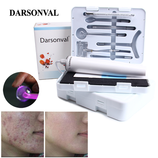Darsonval Draagbare Hoge Frequentie Huidverzorging Apparaat Violet Licht Gezicht Massager Acne Spot Remover Massageador Facial Therapy Spa